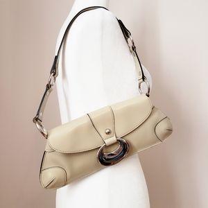 Guess   Adorable Leather Cream Shoulder Bag